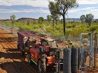 Construction de la barrière anti-chats en Australie